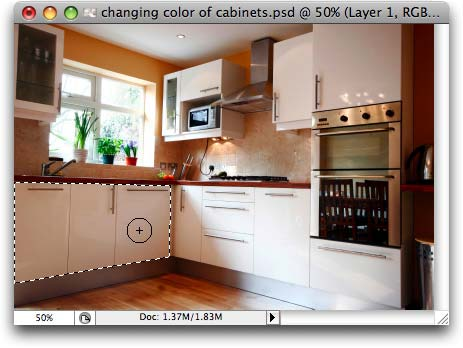 Repainting Cabinets in Photoshop and Elements | PhotoLesa.com