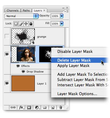 how to delete a layer in photo